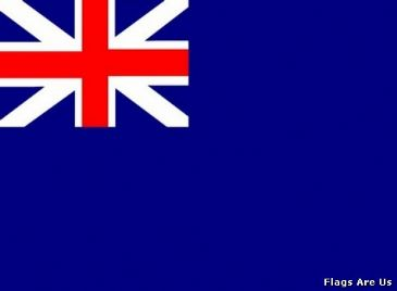 Naval Ensign Blue Squadron  1707 - 1801